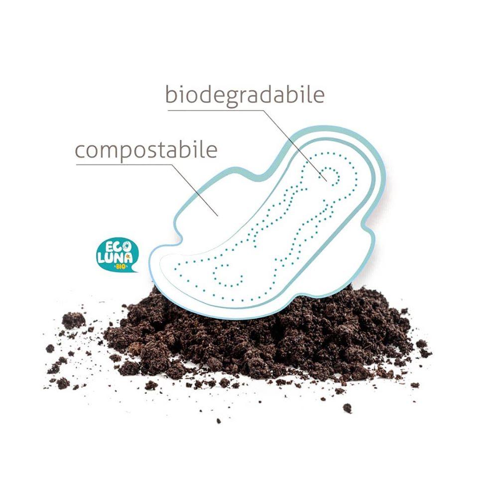 assorbenti ecologici ecoluna compostabili