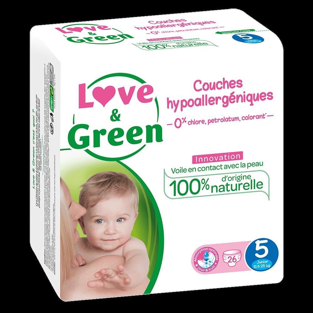 pannolino love&green taglia 5 maxi plus