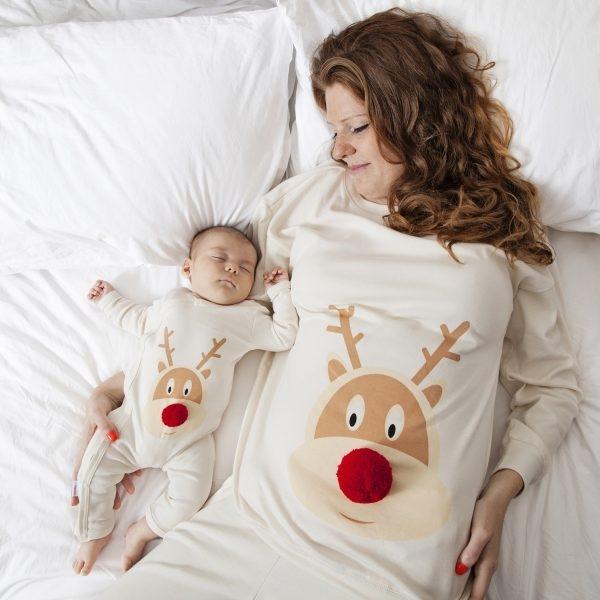 pigiama renna mamma bambino